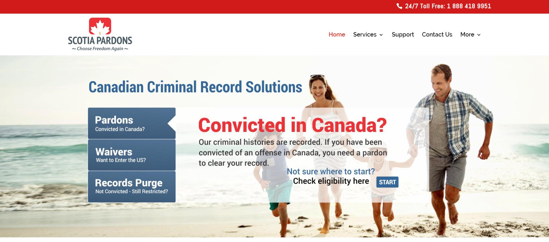 Scotia Pardons Website